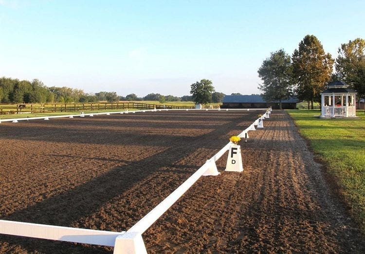 Sundance Dressage Arena with Berkshire Letters