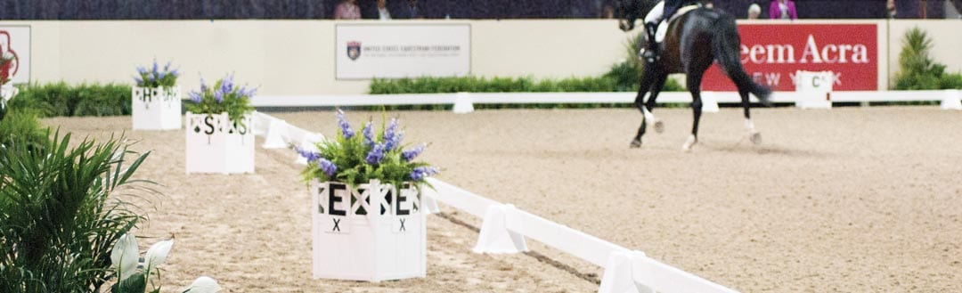 Olympia dressage flower boxes at FEI Reem Acra World Cup Dressage Finals