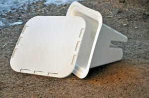 Dressage arena cone base plate