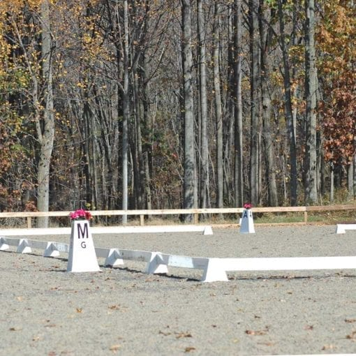 Pyramid Dressage Arena set up with Tower Arena Letters