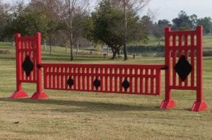 horse jump diamond picket fence