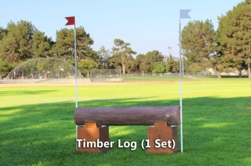 timber logs horse jumps